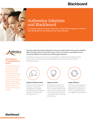 Authentica Solution and Blackboard datasheet